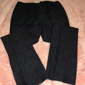 Calvin Klein crease front denim pants